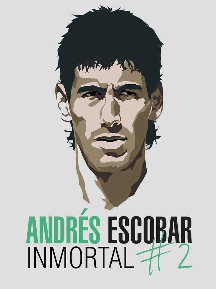 Andrés Escobar-Club Atlético Nacional-Selección Colombia-Asesinado en Medellin por el autogol en el Mundial de USA.