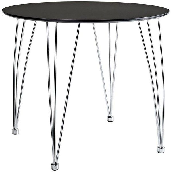 Modway Furniture Whisk Dining Table In Black By ($187) ❤ liked on Polyvore featuring home, furniture, tables, dining tables, kitchen & dining room tables, black furniture, ebony table, onyx table, onyx furniture and black table