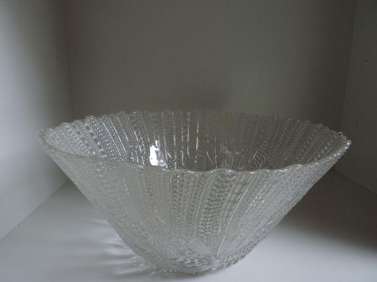 Schale,Schüssel,Glas,groß,70er Jahre Skandinavischer Stil • EUR 28,50