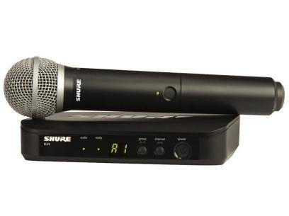 Microfone Mão BLX 24 PG 58 - Shure com as melhores condições você encontra no Magazine Gatapreta. Confira!