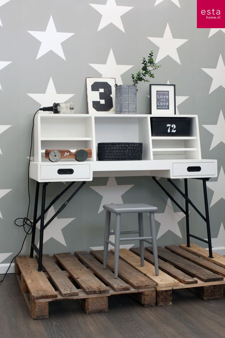 non-woven wallpaper stars collection Everybody Bonjour ESTAhome.nl