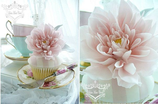 dahlia cupcakes by Leslea Matsis