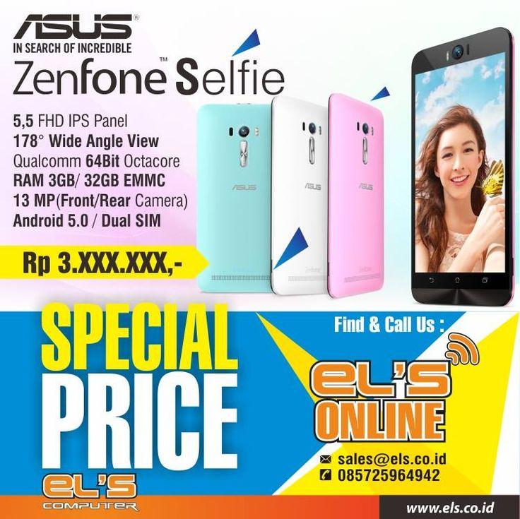 Tersedia Asus Zenfone Selfie di Els Computer. Bisa order online via els.co.id #els #elscomputer #yogyakarta #solo #purwokerto  info --> www.els.id/ SMS/WA --> 085725964942 BBM PIN --> 56083D42 Email --> sales@els.co.id