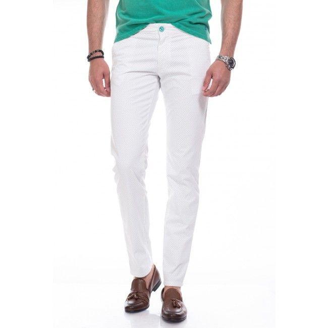 Pantaloni albi DON South Boy 2017