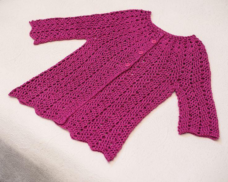 Chevron Lace Cardigan By milobo - Free Crochet Pattern - (ravelry)