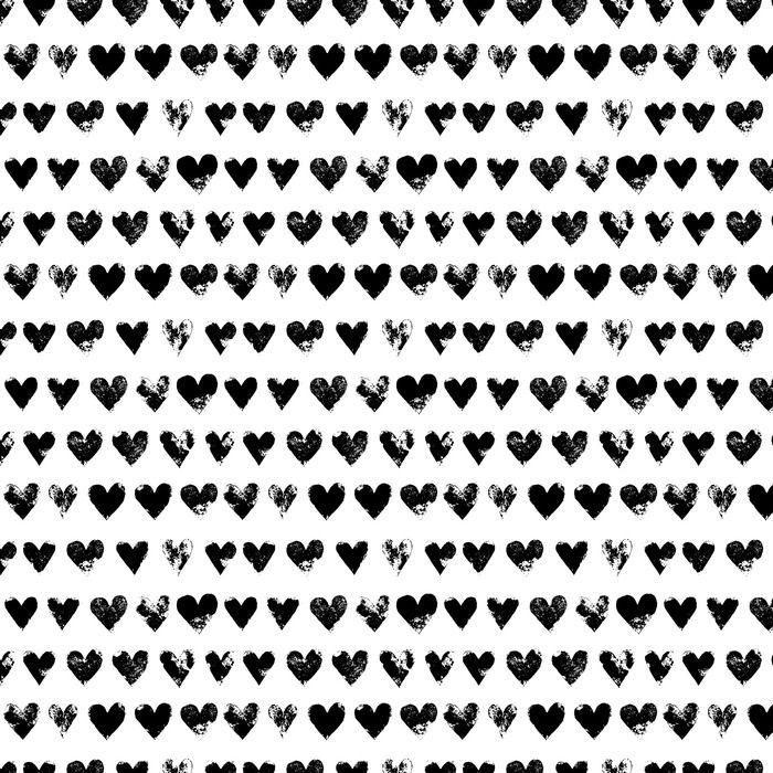 Tapete Schwarz Weiss Grunge Herzen Nahtlose Muster Drucken Vektor Pixers Wir Leben Um Zu Verandern Tapete Schwarz Weiss Tapeten Muster