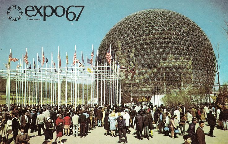 U.S. pavilion at Expo 67 in Montreal, by Richard Buckminster Fuller