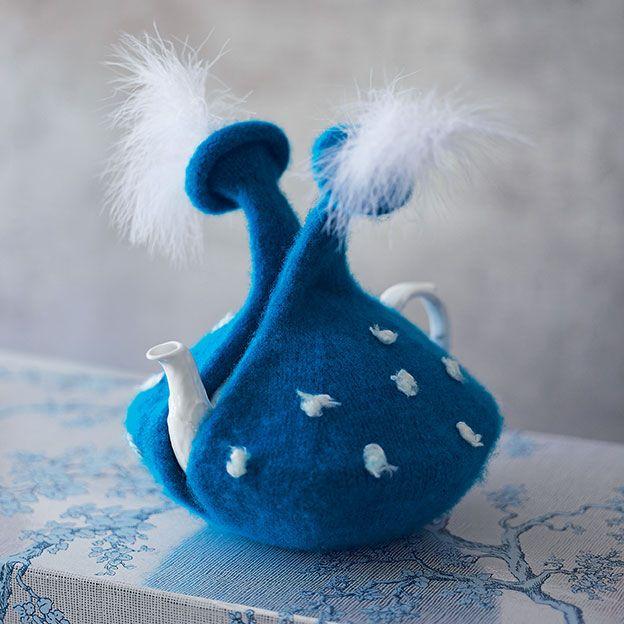 Wild blue tea-cosy