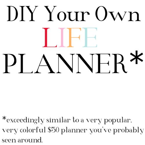 DIY Planner   Jaclyn Day much better than Erin Condren and CHEAPER too!