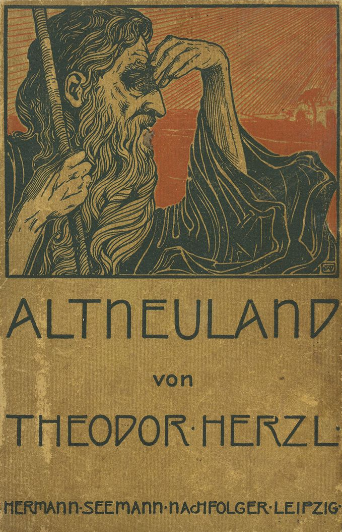 First edition of Altneuland (The Old New Land) by Theodor Herzl, 1902.