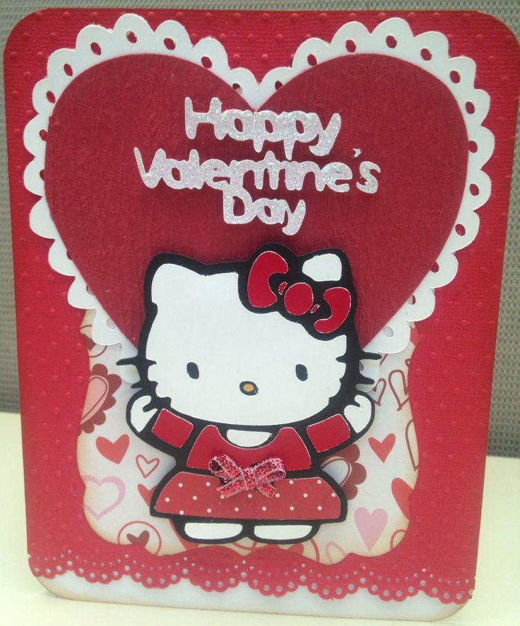 93 best Cricut Hello Kitty images – Hello Kitty Valentine Cards