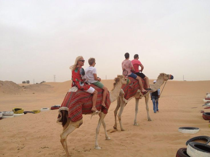Rode camels in the Dubai desert, 2013