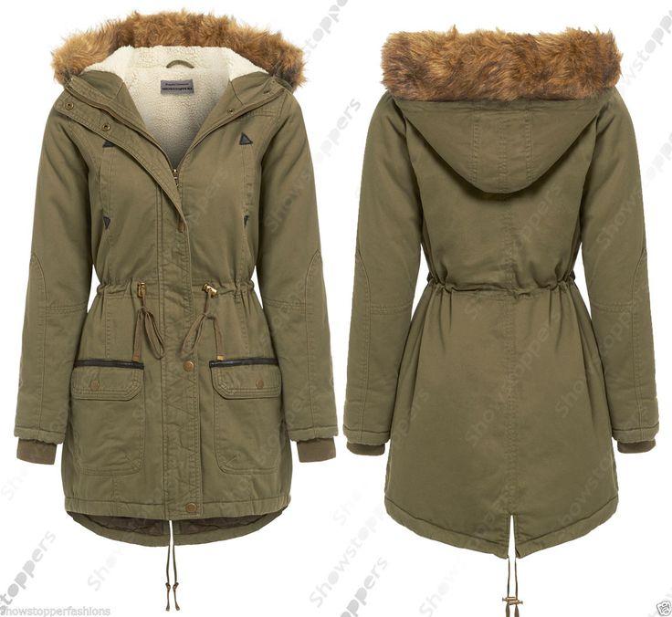 TELA PARKA nuovo Donna MILITARI GIACCA CAPPOTTO IMBOTTITO Taglia 8 10 12 14 16 in Abbigliamento e accessori, Donna: abbigliamento, Cappotti e giacche | eBay