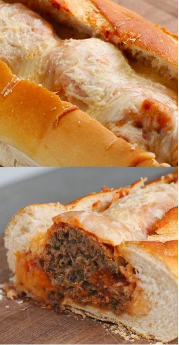 Meatball Bread Boat