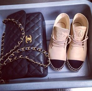 chanel classic bag + chanel high tops