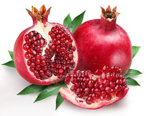 The source of the many health benefits of pomegranates is found inside the juicy arils, in a small white seed that contains punicic acid. The punicic acid found in pomegranates is an especially powerful form of CLA, which has been shown to be beneficial in the fight against cancer, obesity, diabetes and heart disease. 116 There seems to be no downside other than cost in adding pomegranate juice to your daily diet.