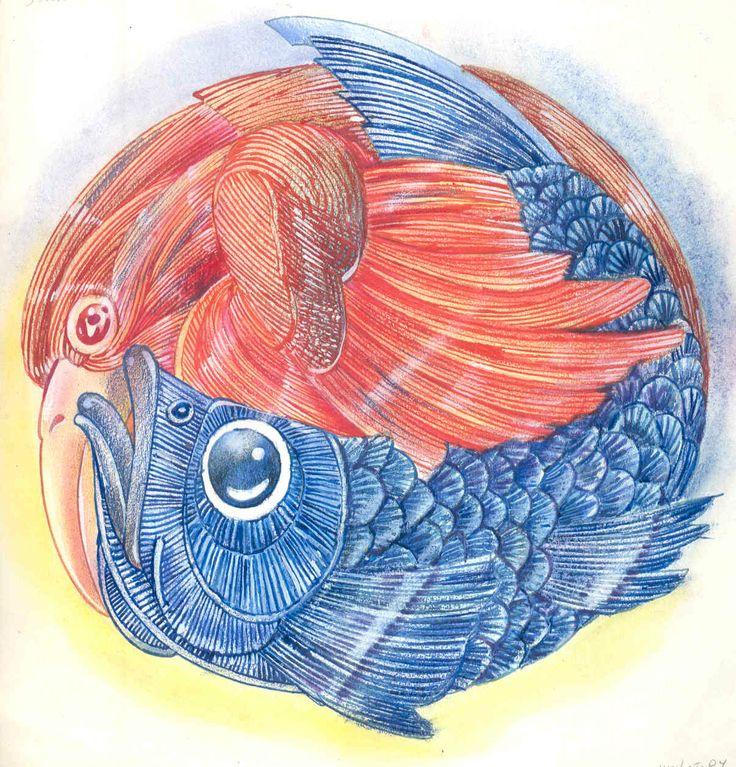 "Rui de Oliveira illustration for ""Melusina""."