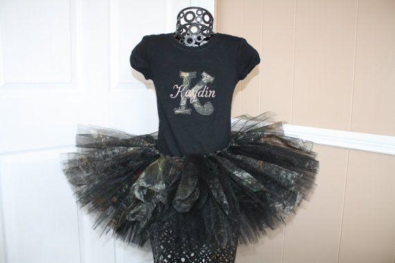 Tutu Set Camo Diva's Birthday / Initial by princesstutus2010, $45.00