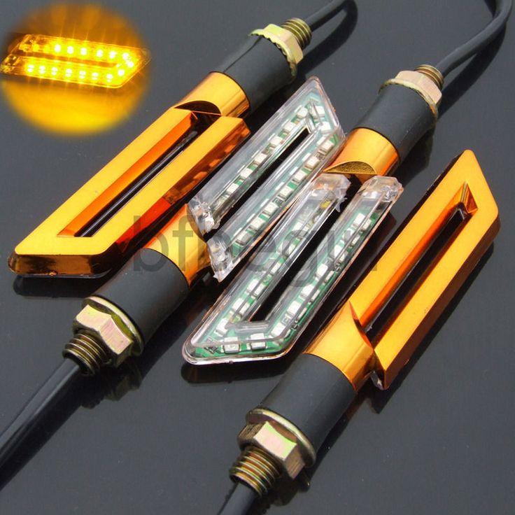 New x Universal Motorrad Roller LED Blinker Signal Indicator Licht Leuchte Gelb