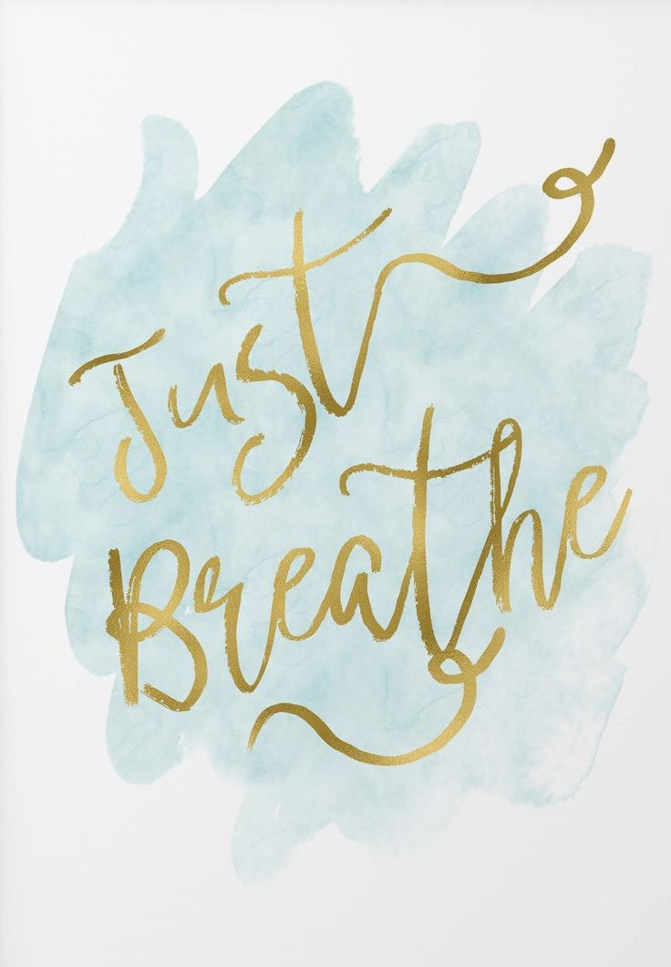 Just breathe art print - zen quote