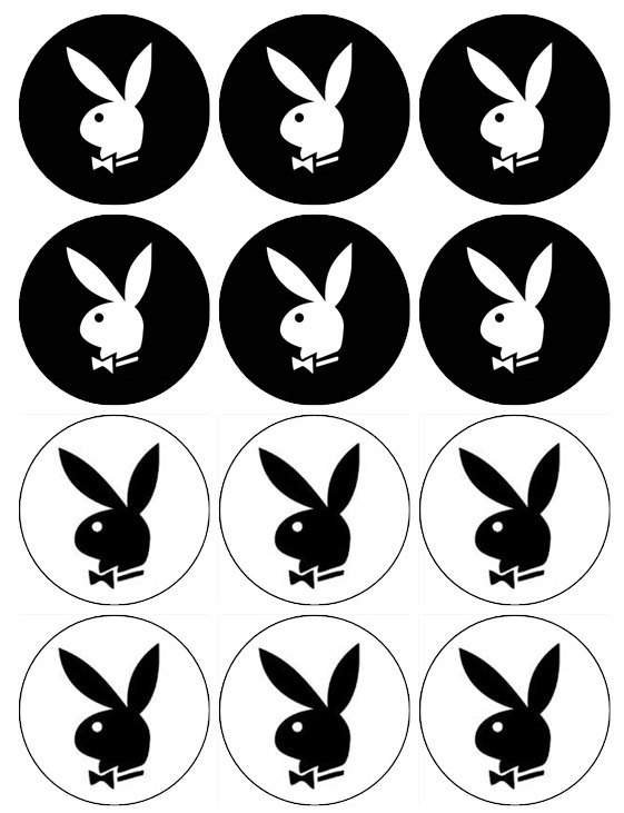 Edible PLAYBOY BUNNY Cupcake Toppers 12 edible images for Cupcakes, cookies, brownies or any dessert birthday. $6.00, via Etsy.