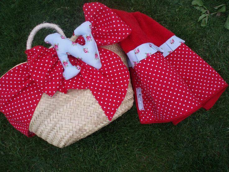 Cesta y toalla a juego cestas de playa pinterest - Cestas de playa personalizadas ...