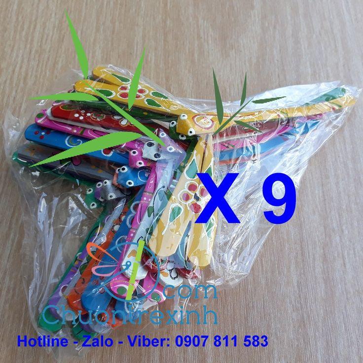 """Chuồn tre Set 90 pcs Painted Bamboo Dragonfly 4.7"""" Chuồn"""