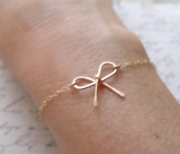 Rose Gold Bow Bracelet - Uncovet