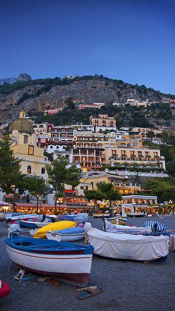 Positano At Sunset - Amalfi Coast, Italy