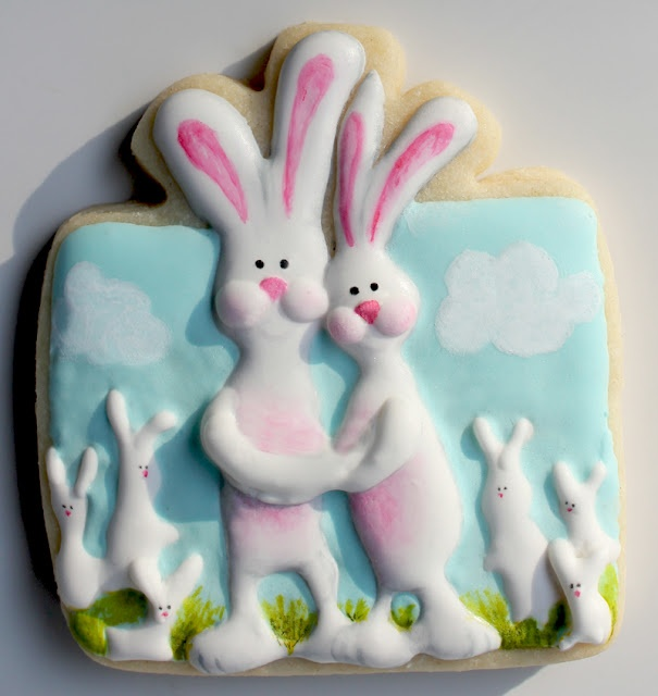 58 best wrapping ideas for edible gifts images on pinterest arty mcgoo easter bunnies sugar cookie using a presentgift cookie cutter negle Gallery