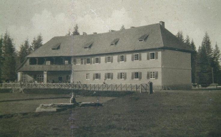 Poiana Brasov - Hotelul Hohenheim (azi hotel Ruia) - interbelica