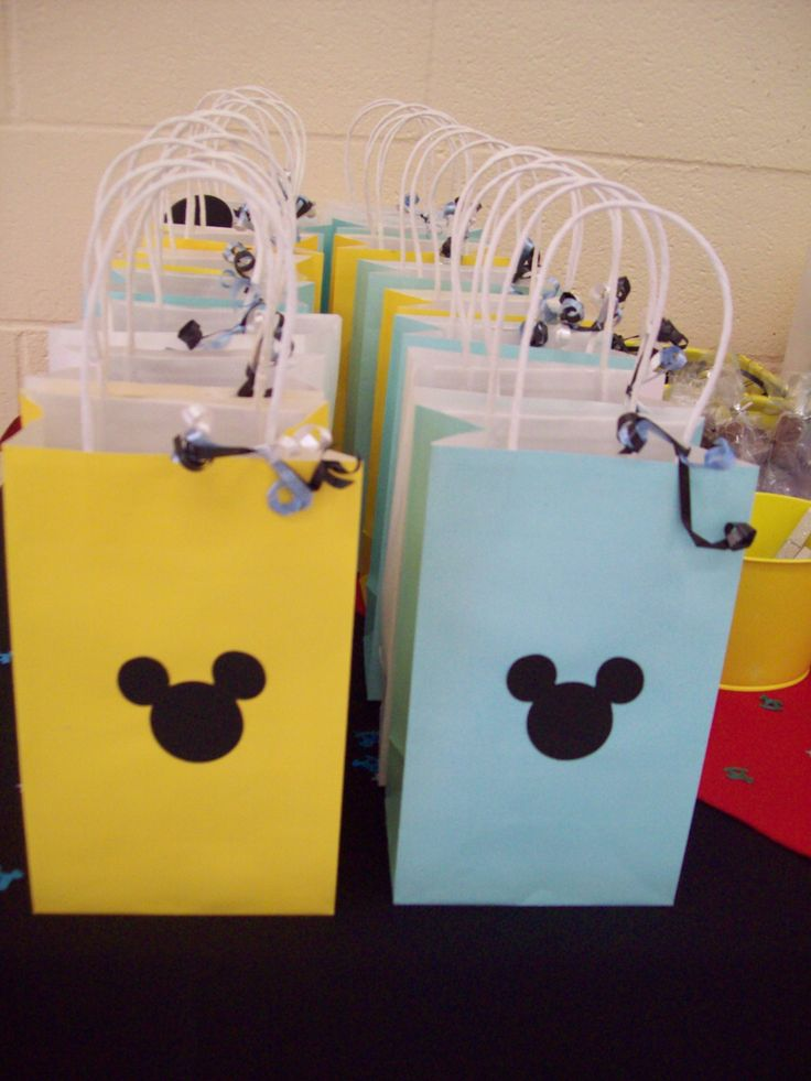 Mickey Mouse themed favor bags