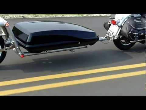Packrat Trailers -ABS Box single wheel motorcycle trailer - YouTube