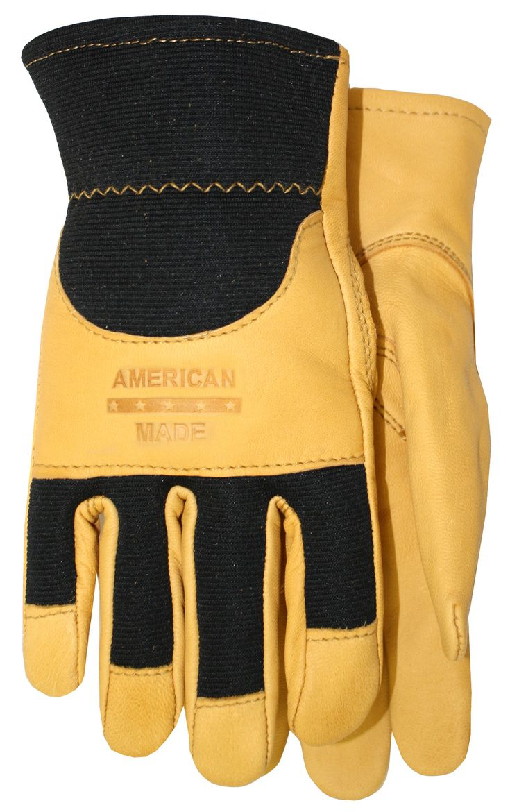 Leather work gloves made in the usa - Smooth Grain Goatskin Leather