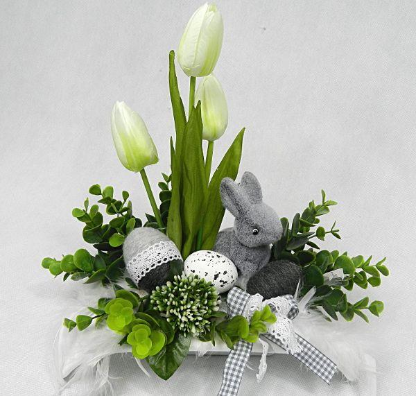 Wielkanocny Elegancki Nowoczesny Stroik Wielkanoc 7195991162 Oficjalne Archiwum Allegro Easter Flower Arrangements Easter Centerpieces Spring Easter Decor