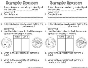 Printables Sample Space Worksheet sample space probability worksheet bloggakuten collection of bloggakuten