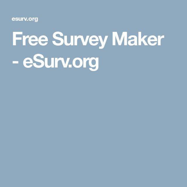 Free Survey Maker - eSurv.org