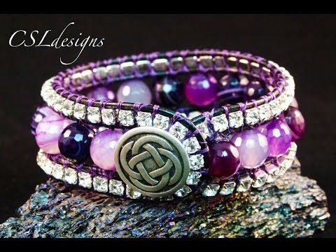 3 row wrap around bracelet - YouTube