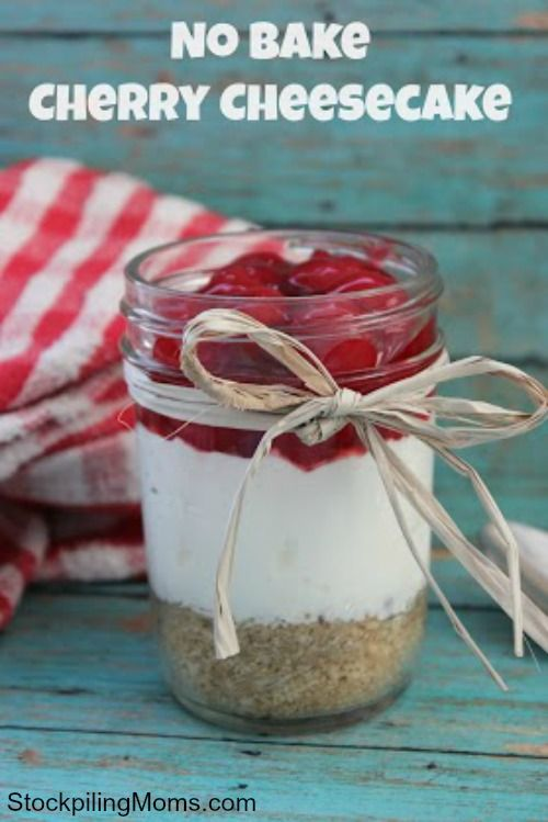 So easy to make and perfect for portion control!  I love serving desserts in a Mason Jar!