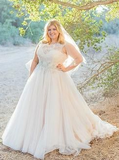Sophisticated Princess Curvy Bride in Blush available at Della Curva Plus SIze