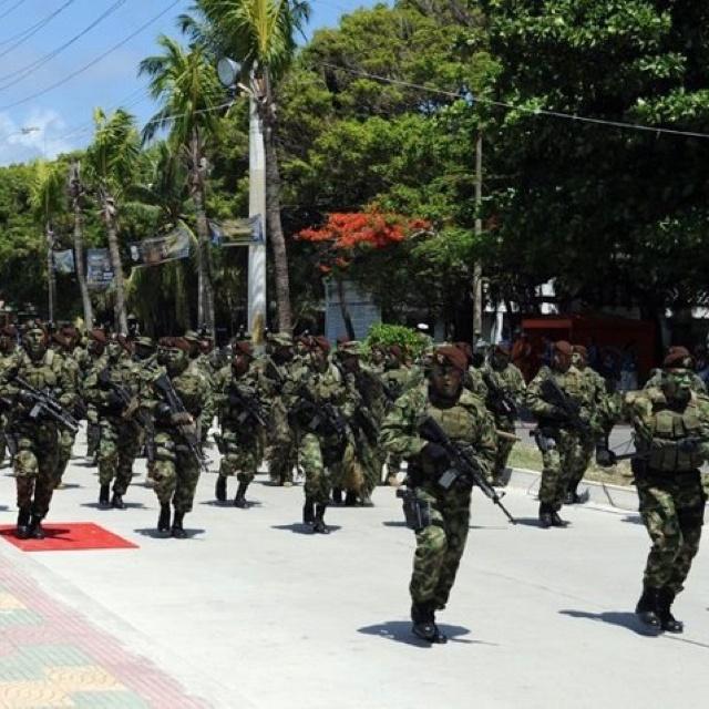 Ejercito de Colombia en San Andrés isla