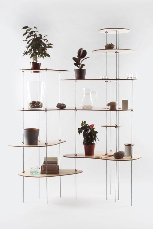 An unobtrusive shelf.