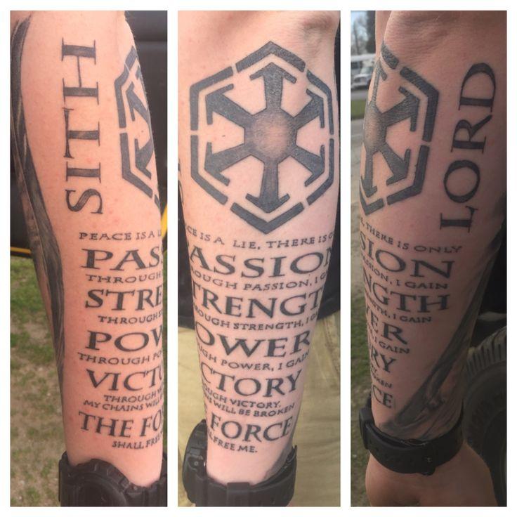 Star Wars Tattoo, Sith Creed