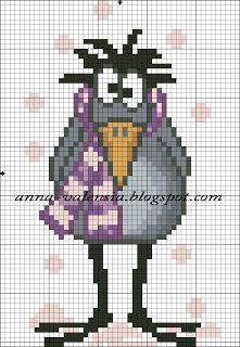 Borduurpatroon Funny Cartoon *Cross Stitch with Funny Cartoon ~Gekke Vogel 2/4~