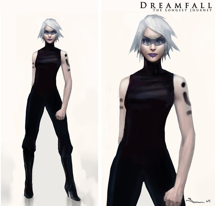 Arte conceptual de Dreamfall: The Longest Journey. Videojuego noruego  Concept Art Dreamfall: The Longest Journey. Norwegian videogame
