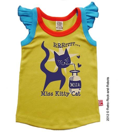 Kitty Cat Top - Mosterd | Eskiddo