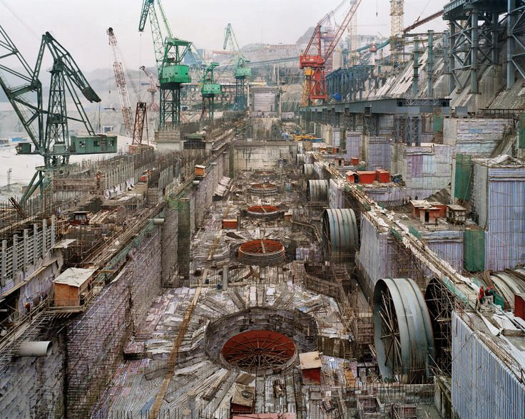 Another environmental disaster : Dam #6, Three Gorges Dam Project, Yangtze River, 2005. By Edward Burtynsky.