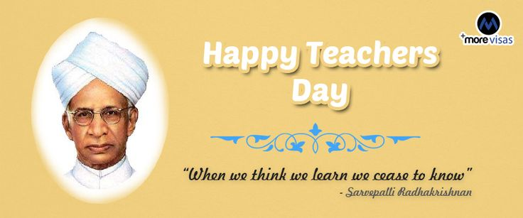 #MoreVisas wishes a Happy Teacher's day...