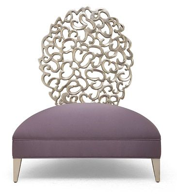 Carved earring-inspired accent piece that reflects the Christopher Guy contemporary look.