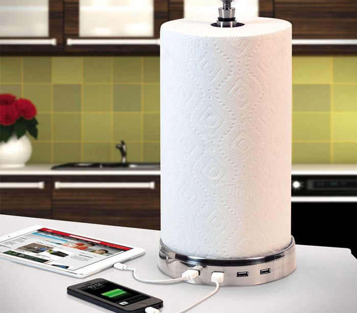 Paper Towel USB Charger Hub - Take My Paycheck - Shut up and take my money! | The coolest gadgets, electronics, geeky stuff, and more!